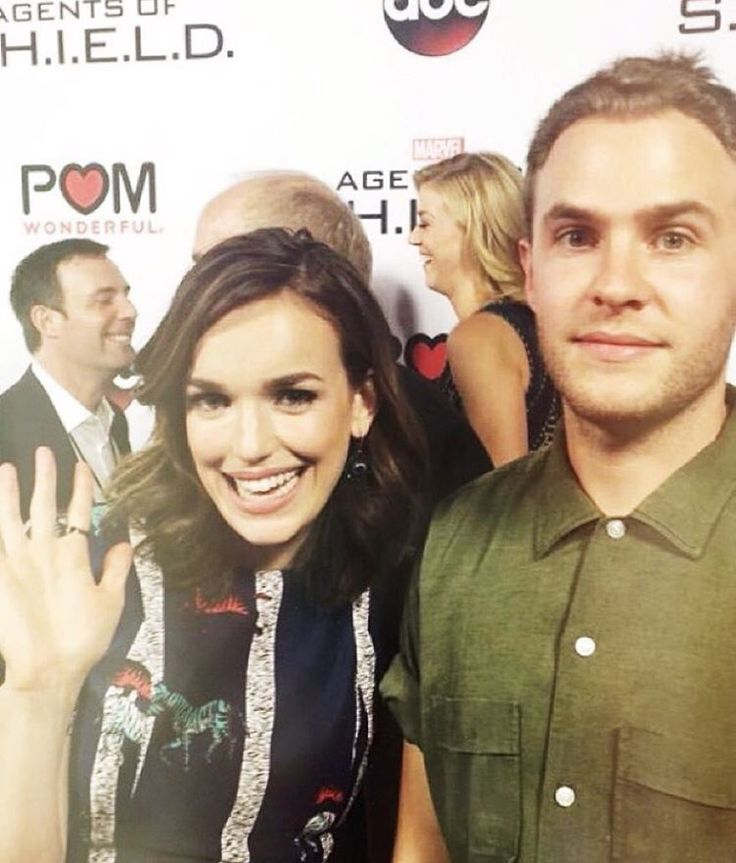 clarkgreggreporter from the agents of s season 3 premiere red carpet at the grove in l september elizabeth henstridgeiain de caestecker and clark