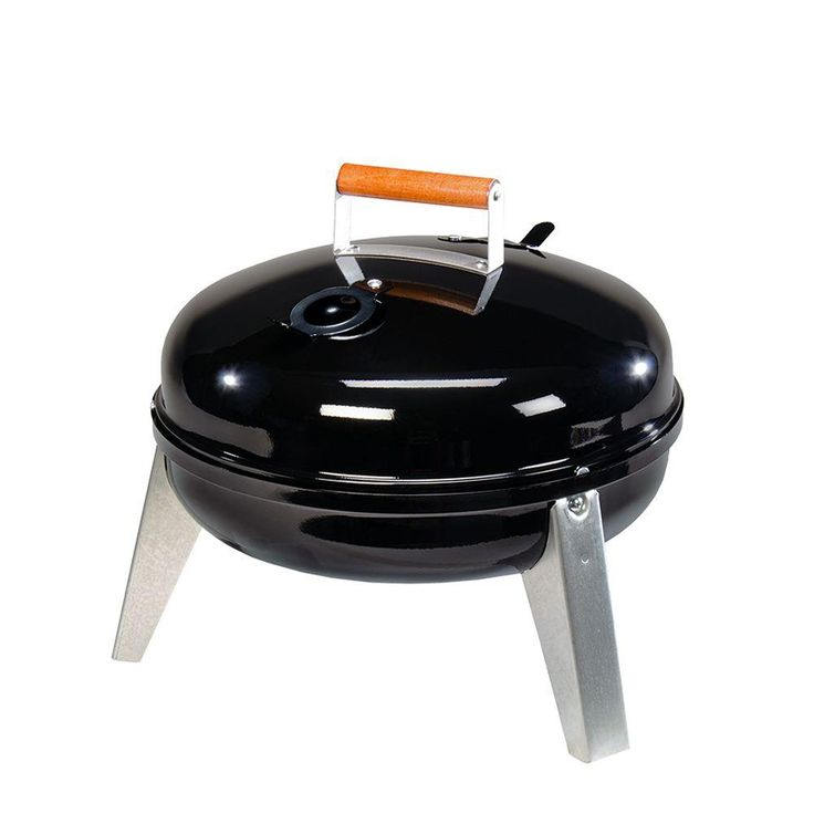Americana Lock N' Go Portable Charcoal Grill in Black