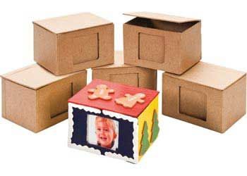 Papier Mache Memo Box with Frame Pack of 6. A creative way to store your small items or give as a present for any occasion.