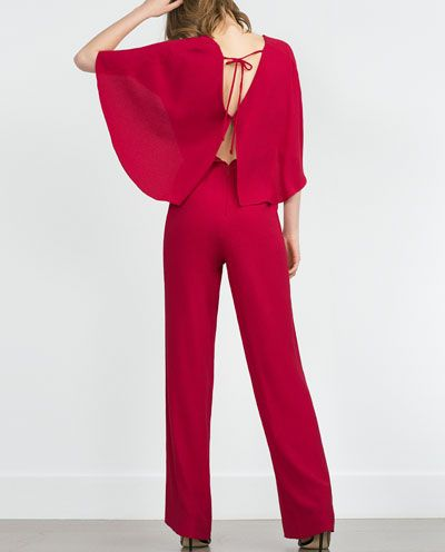 CAPE JUMPSUIT WITH V-NECK by Zara, $99