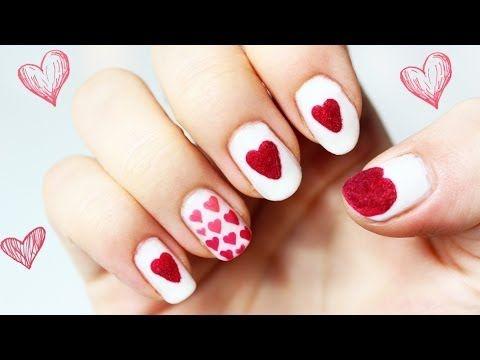 ♦ Serce na dłoni - paznokcie na walentynki ♦ - YouTube