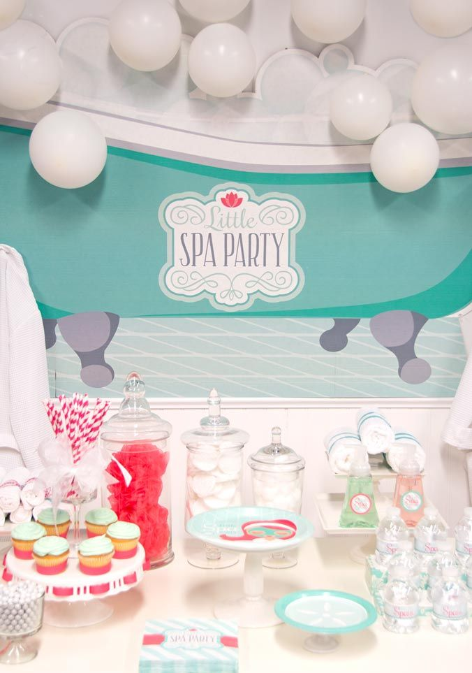 The perfect Standup for a Spa Themed Party #BirthdayExpress #Spa #Party