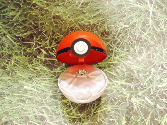 Pokemon Engagement Ring Box Regular Ball Option By Dreamscapee I Need To Be Proposed With This