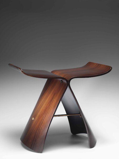 Sori Yanagi Japanese designer, Butterfly stool, 1954