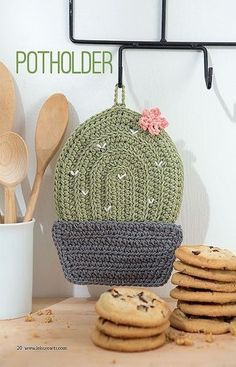 Crochet Cactus Potholder Pattern Kitchen Crochet Patterns