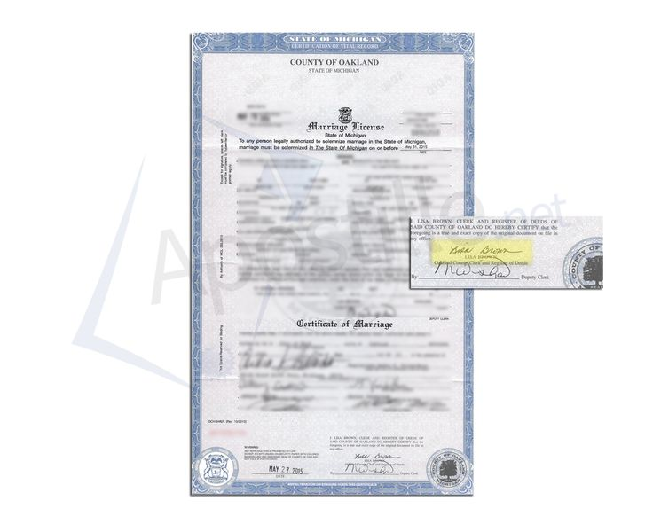 27 best State of Michigan Sample Apostille images on Pinterest - sample marriage certificate