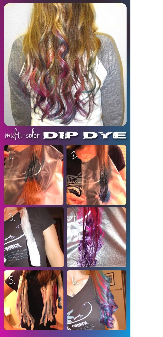 Dye the ends of your hair with Splat semi permanent hair color