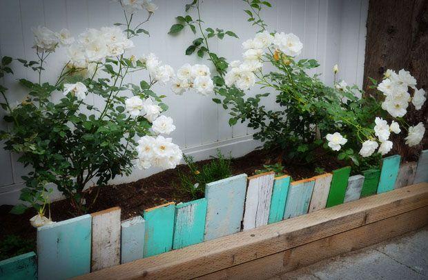 afiação de jardim de madeira de sucata reciclada