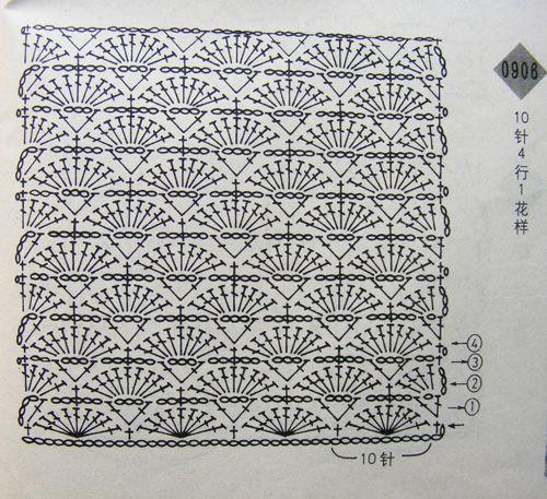 Crochet Lace Patterns Diagram : lacy crochet fan stitch diagram Crochet lace scarves ...