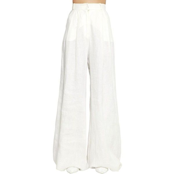 f4f21a80a5e7 Zimmermann Women High Waist Wide Leg Linen Pants (6 685 SEK) ❤ liked on