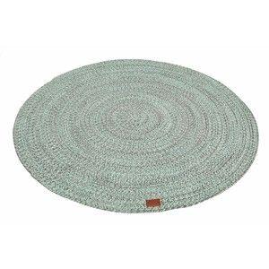 Mátově zelený kulatý koberec Hawke&Thorn Parker