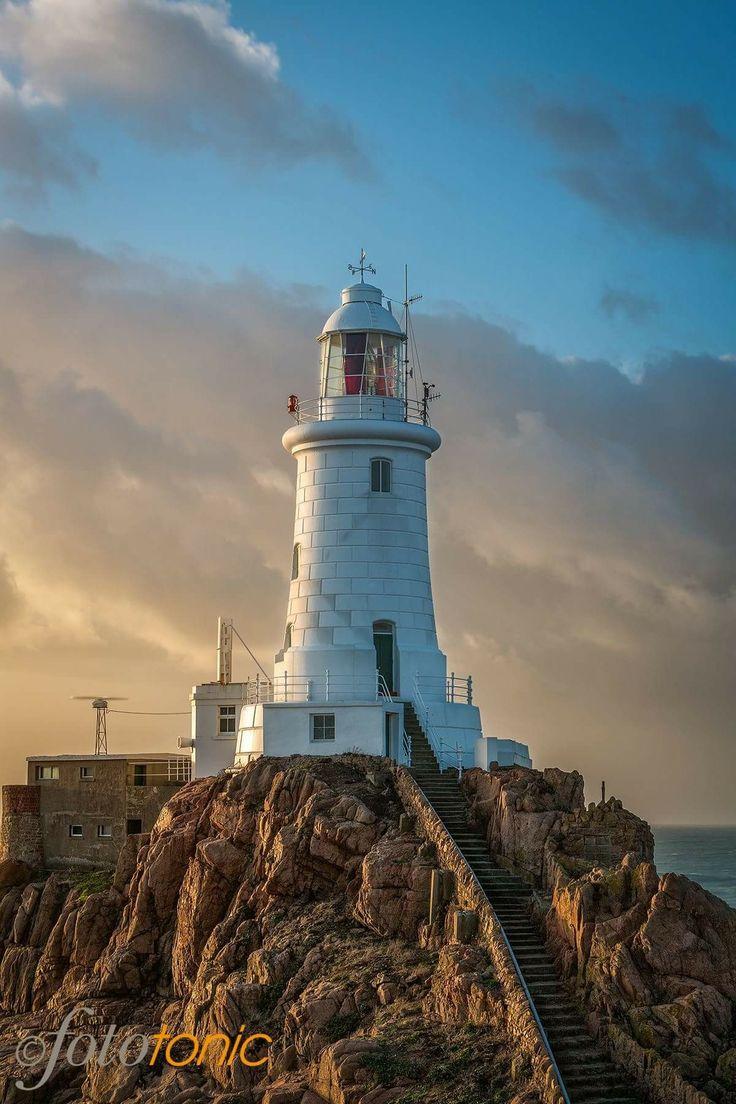 La Corbière lighthouse in Jersey, UK.