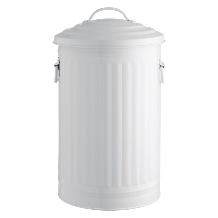 The Alto white kitchen bin 32l is a solid, Habitat designed archetypical kitchen bin with lid and carry handles. A stylish addition to the kitchen, the waste bin is easy to clean and has an inner bin bag retainer ring to keep the bin bag in place. Part of the Alto steel bin collection available in 2 sizes and various colours.