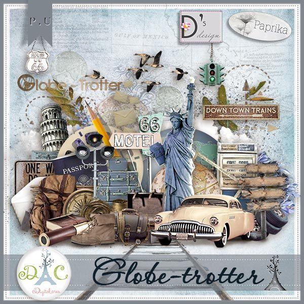 "kit ""Globe-Trotter"" by Paprika & Doudou's Design http://digital-crea.fr/shop/doudou-s-design-c-155_164/globe-trotter-p-11490.html#.UjxKP0aao4k"