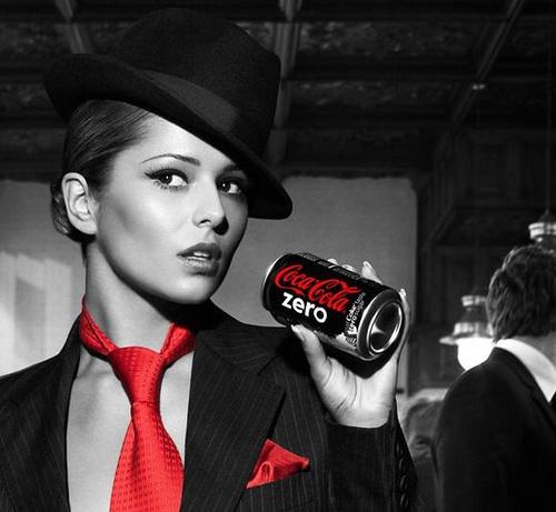 when coke made zero by demarco1st, via Flickr | coca-cola zero coke zero + portrait + black white grey red