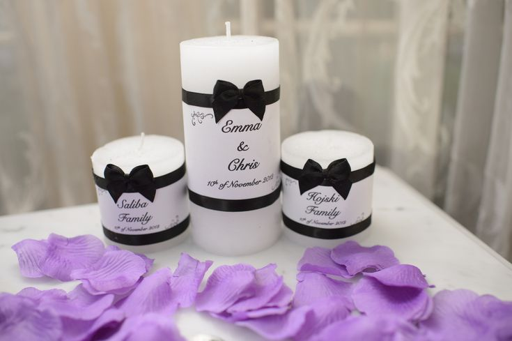 Unity Wedding Candles - Set of 3 $60 Website: www.purplebutterflydesigns42.weebly.com Facebook: www.facebook.com/purplebutterflydesigns90 Instagram: www.instagram.com/purplebutterflydesigns