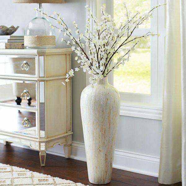 39 Gorgeous Diy Vase Decoration Ideas Diyvasedecoration Gorgeousdiyvasedecorationideas Vasedecorationid Floor Vase Decor Floor Decor Home Decor Accessories