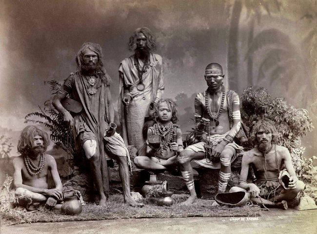 """Arts - Image - NYTimes.com; """"Group of Yogis,"""" photographed around the 1880s by Colin Murray for the Bourne & Shepherd studio."""
