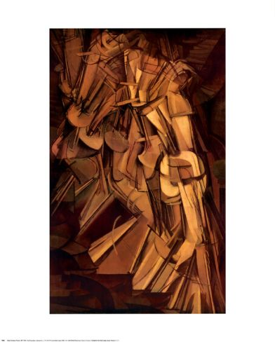 Nude Descending a Staircase, No. 2, 1912 Print by Marcel Duchamp at Art.com 24x30 $20