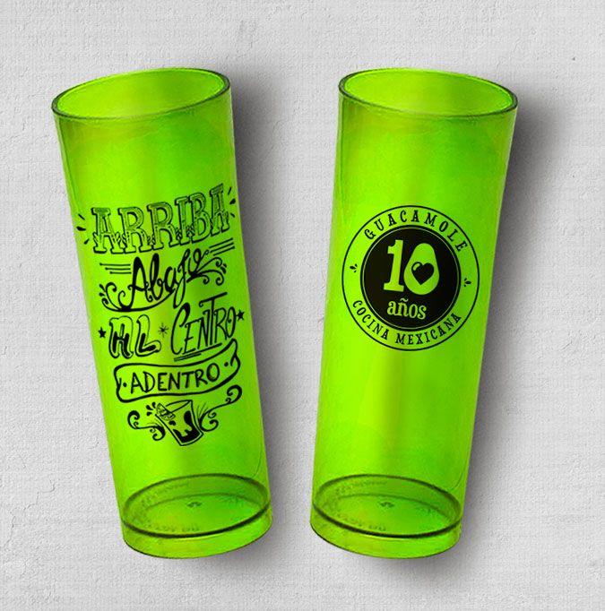 Copo Long Drink Guaca 10 anos. Você pode levar para sua casa um pedacinho do méxico e do Guacamole. Drink. Arriba. Mexico. Guacamole. Guaca 10 anos