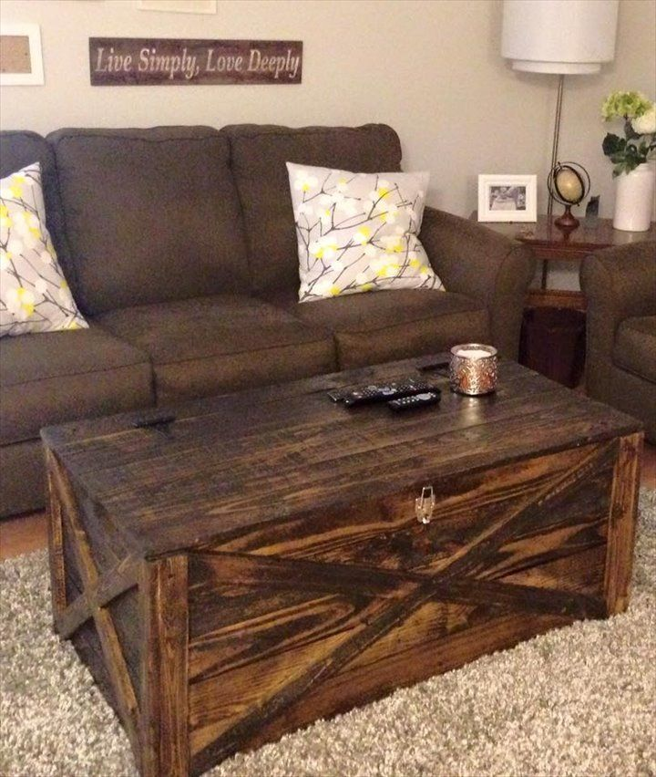 Long Coffee Table With Storage Download Pallet Coffee Table Storage Chest 14 Creative Pallet #side #table #with #storage #for #living #room