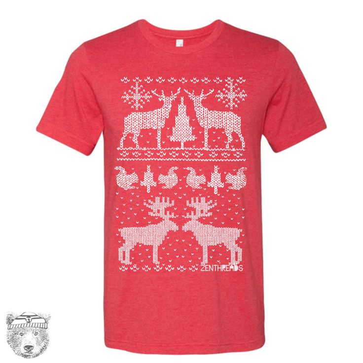 Men's CHRISTMAS Sweater Print T-shirt S M L XL XXL (++ Color Options