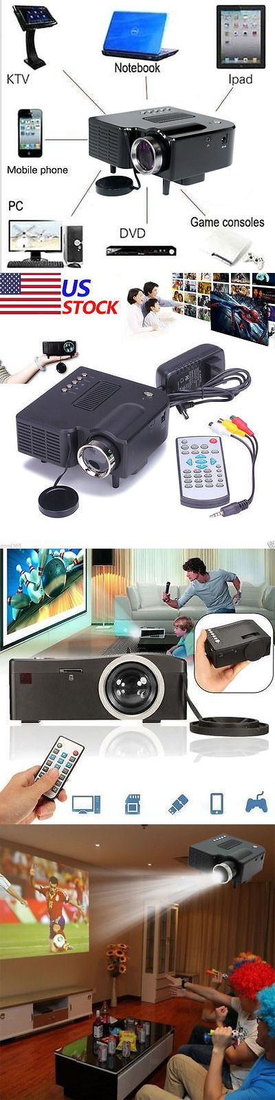Home Theater Projectors: Hd 1080P Home Cinema Theater Multimedia Pc Av Tv Usb Led Projector Vga Hdmi Vp BUY IT NOW ONLY: $34.85