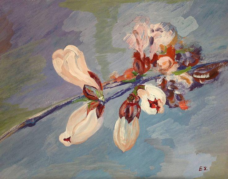 60x40cm Сherry blossoms by ZhamozdikPaintings on Etsy