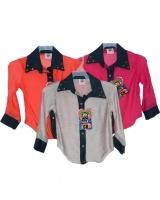 Blusa camisera manga 3/4 en colores de moda