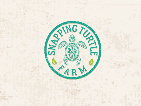 Logo Design by Grace A for Organic Farm Snapping Turtle Farm #logo #design #turtle #animal #DesignCrowd
