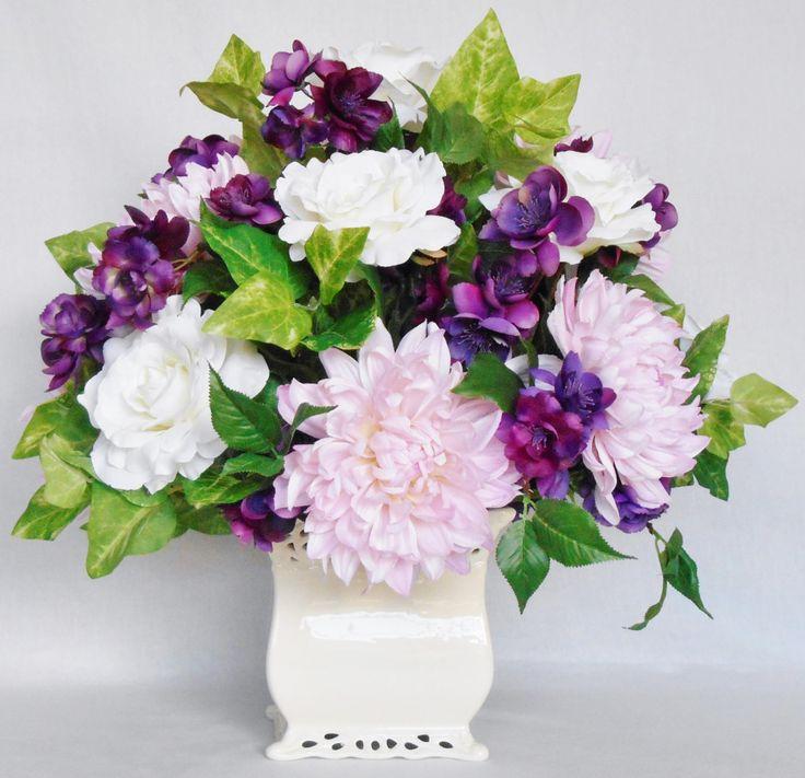 16 best silk flower arrangements i have for sale images on pinterest art flowers artificial. Black Bedroom Furniture Sets. Home Design Ideas
