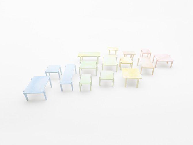 Nendo: Colored-pencil table - Thisispaper Magazine