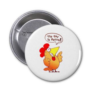 Chicken Little Cartoon: Cartoon Chicken Fun 6 Cm Round Badge