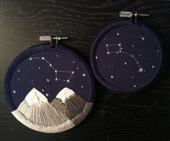 Embroidery Hoop Art Set: Ursa Major & Ursa Minor