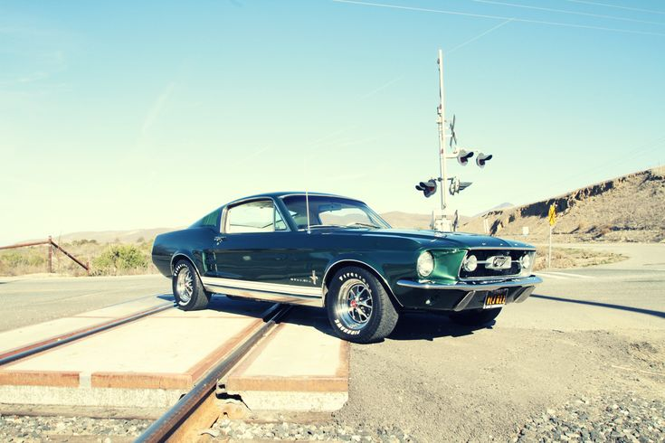 This photo is of a 1967 ford mustang, it represents how cars began to change fast throughout a decade. They became smaller, and a lot faster.