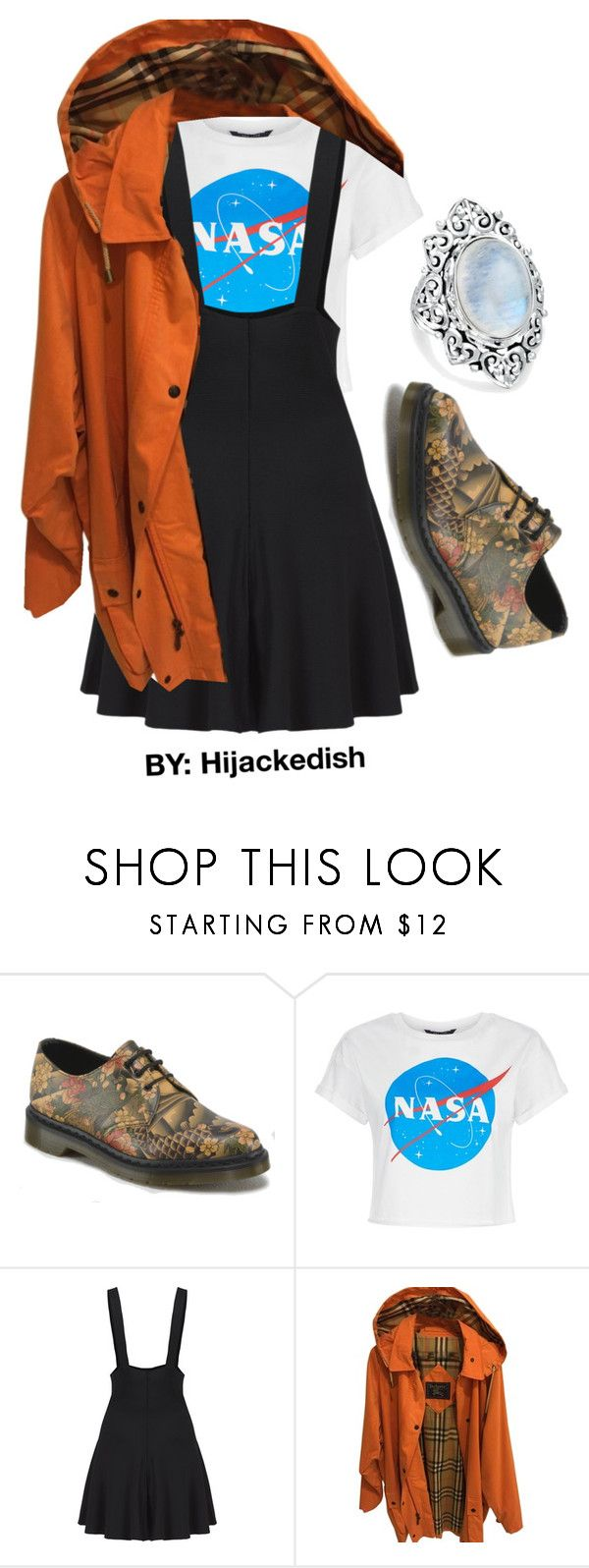 """NASA"" by hijackedish on Polyvore featuring Dr. Martens, Burberry and Bling Jewelry"
