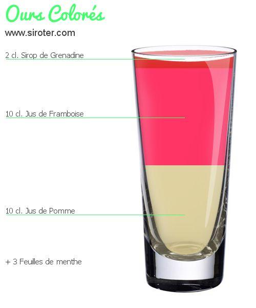 Cocktail Ours colorés (sans alcool)
