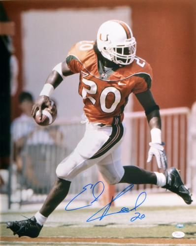 Ed Reed Autographed 16x20 Photo - JSA #SportsMemorabilia #MiamiHurricanes