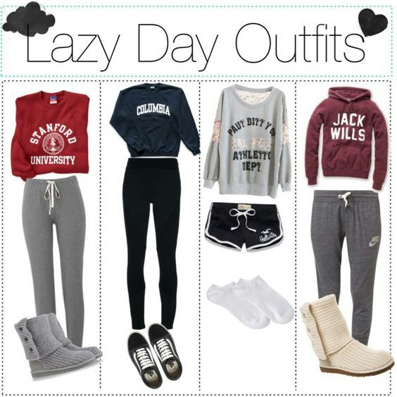 Perfect outfit ideas for a lazy day at home .: