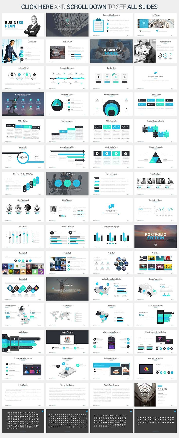 Business Plan Google Slides Template by SlidePro on @creativemarket