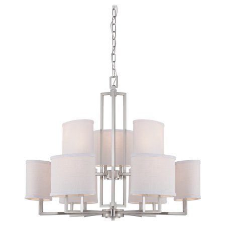 Wistaria lighting lighting gemini 9 light chandelier gray