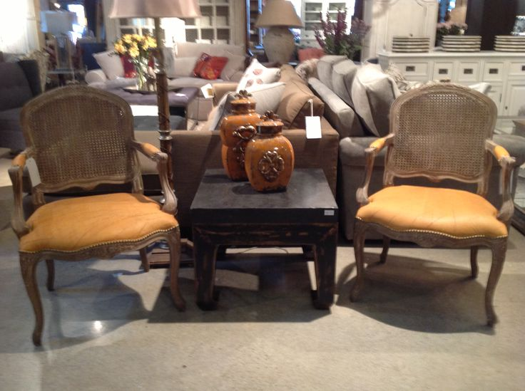 The Mont Rouge Chair from Cornerstone Home Interiors recaptures the French elegance while updating it for today in a persimmon leather seat and a casual wood stain. $689.00 www.cornerstonefurniture.ca