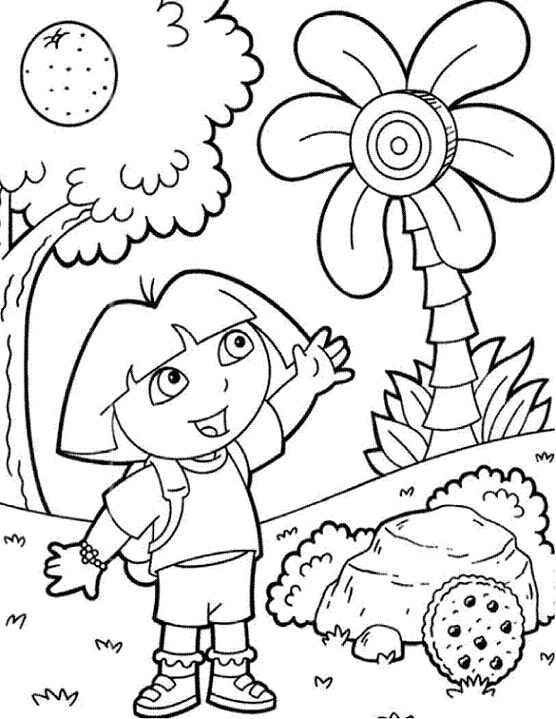 Dora The Explorer Coloring Page Lady Toons Pinterest