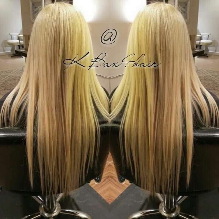 Long Blonde Hair Extensions Install By Cleveland Master Hairstylist