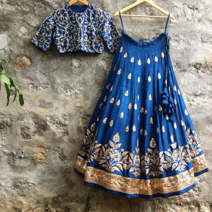 Crushing on this rich blue Lehenga-Crop-top set! Email us on jayantireddyofficial@gmail.com for enquiries and orders.  JayantiReddy  JayantiReddyLabel