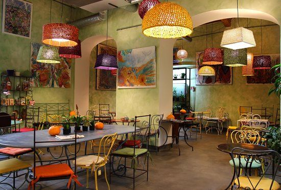 A friendly, colourful and cool atmosphere for this Veg Organic Restaurant! Wonderful outdoor garden and rich menu!