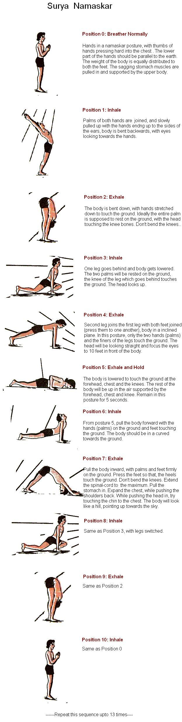 Surya Namaskar - Sun Salutation,any health fitness routine is incomplete without this.
