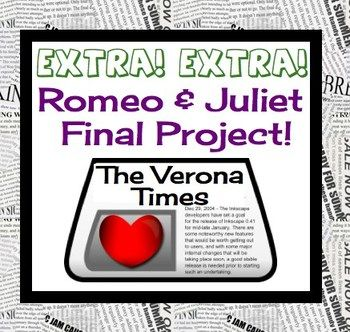 romeo and juliet creative final project students school and teaching ideas. Black Bedroom Furniture Sets. Home Design Ideas
