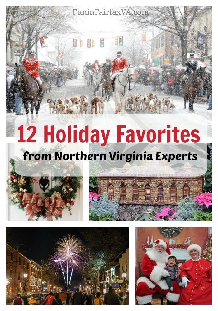 These 12 holiday favorites from Northern Virginia experts honor the season with festive parades, unique celebrations, light displays, and visits with Santa.