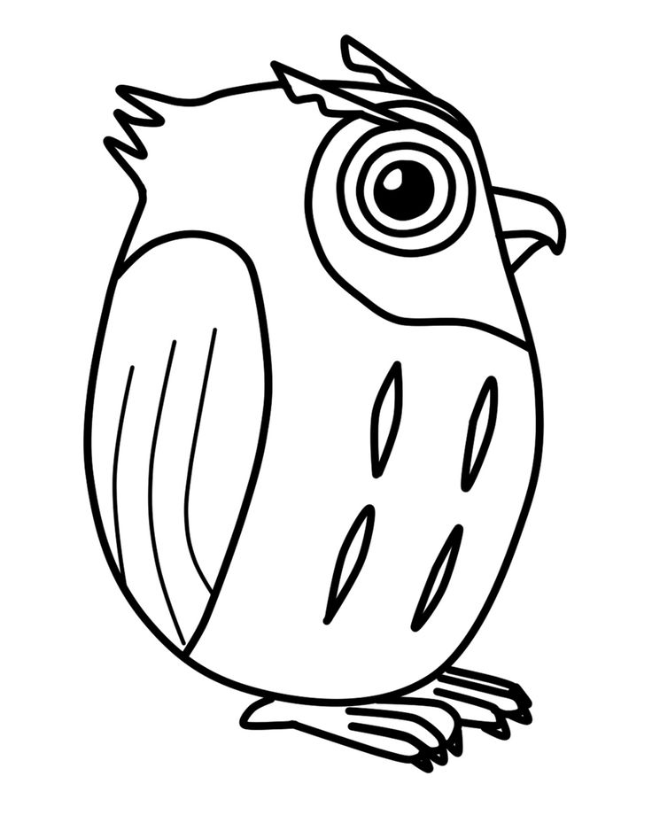 free printable cute owl coloring page for back to school or halloween - Cute Halloween Owl Coloring Pages